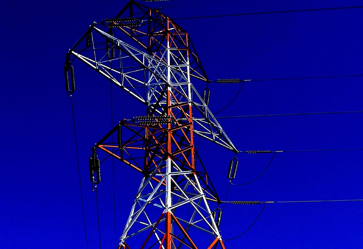 Background Industrial Electricity Transmission Tower Top Free Download Photos Wallpapic